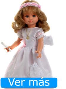Muñecas de comunión: muñeca de comunión rubia con ondas