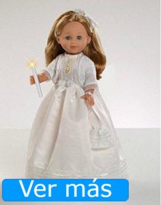 Muñecas de comunión: muñeca de comunión rubia con vela
