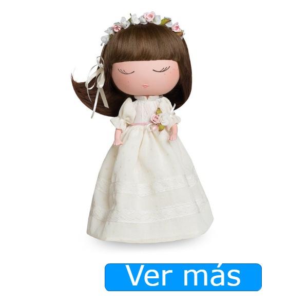 Muñeca Anekke comunión con diadema de flores