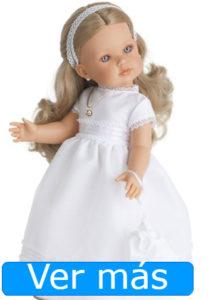 Muñecas de comunión: muñeca rubia de 45 centímetros
