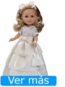 Muñecas de comunión: muñeca rubia con cristales Swarovski