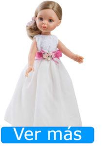 Muñecas de comunión: muñeca de comunión rubia con color