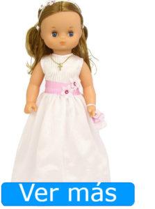 Muñecas de comunión: muñeca rubia de cara redondeada