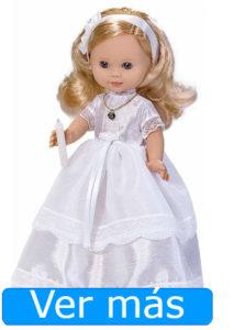 Muñecas de comunión: muñeca rubia con vela