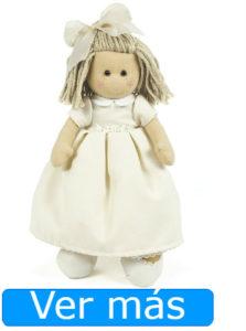 Muñecas de comunión: muñeca de trapo con vestido pique