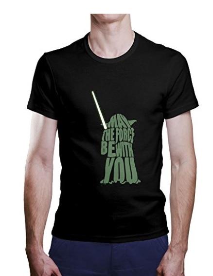 Camisetas de Yoda con sable
