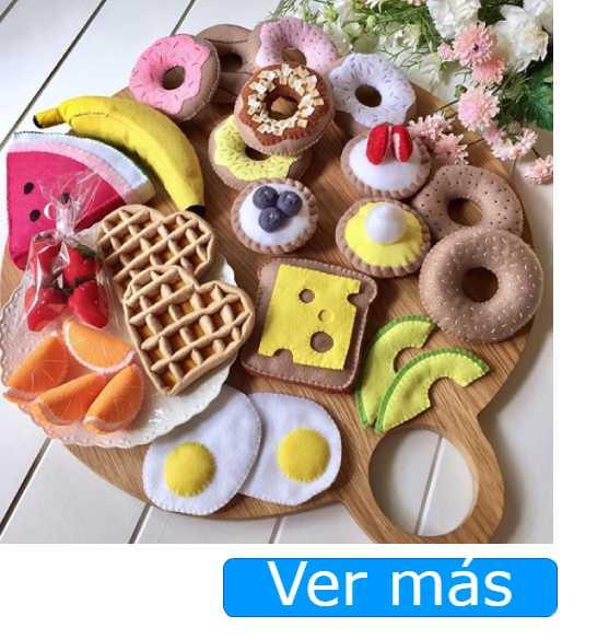 Alimentos de juguete de fieltro-BurntGingerBreadYum