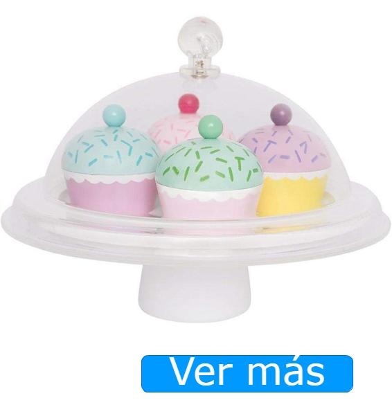 Alimentos de madera-Cupcakes de juguete JaBaDaBaDo