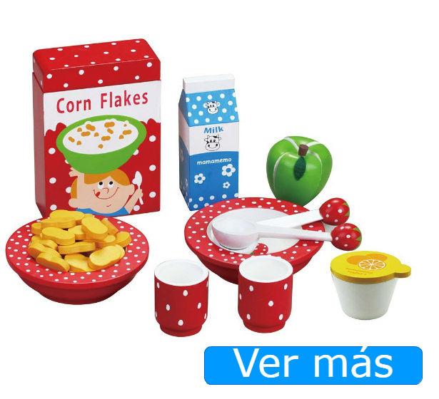 Alimentos de madera: comida de juguete para desayuno
