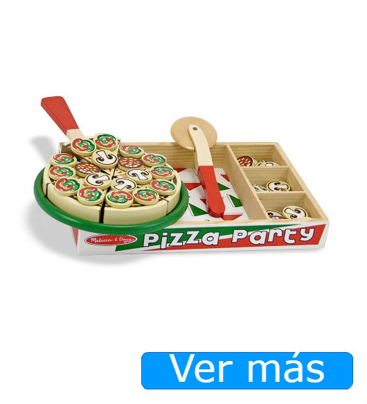 Alimentos de madera: pizza de juguete