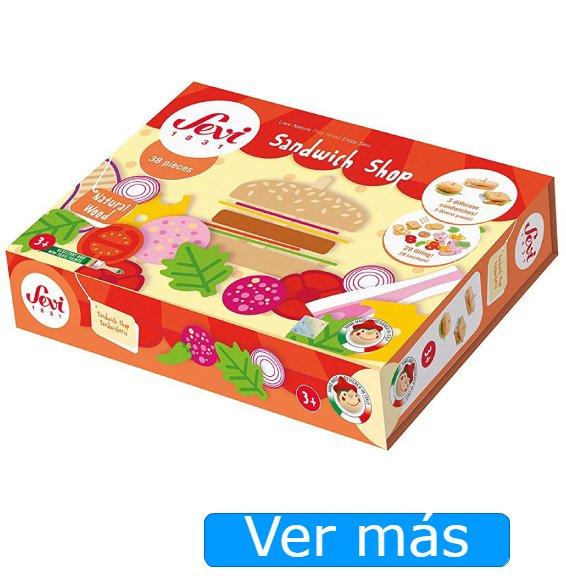 Alimentos de madera y fieltro de juguete-Sandwichería Sevi