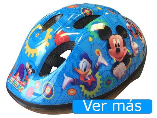 Bicicletas para niños casco Mickey Mouse y sus amigos