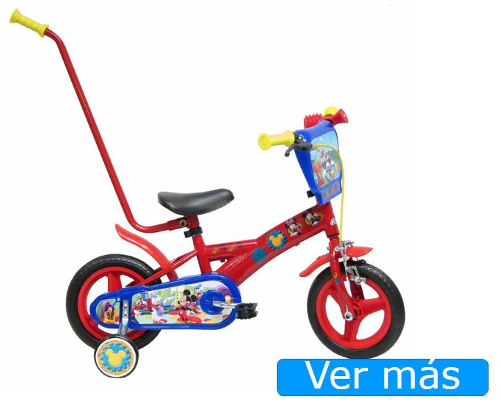 Bicicletas para niños con barra de aprendizaje