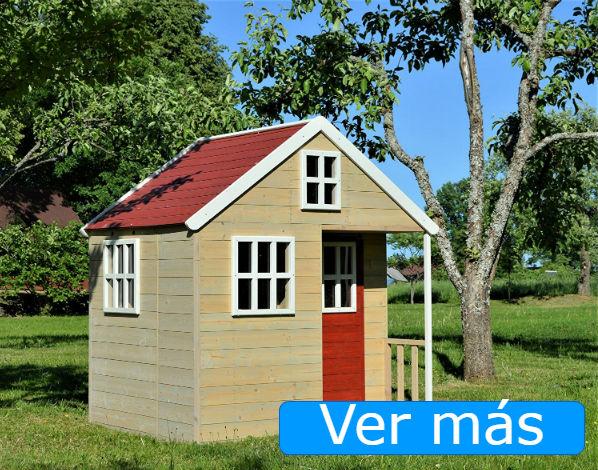 Casas de jardín para niños: casa de jardín con puerta roja