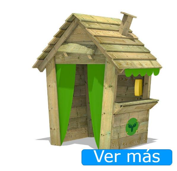 Casas de jardín para niños: casita con chimenea