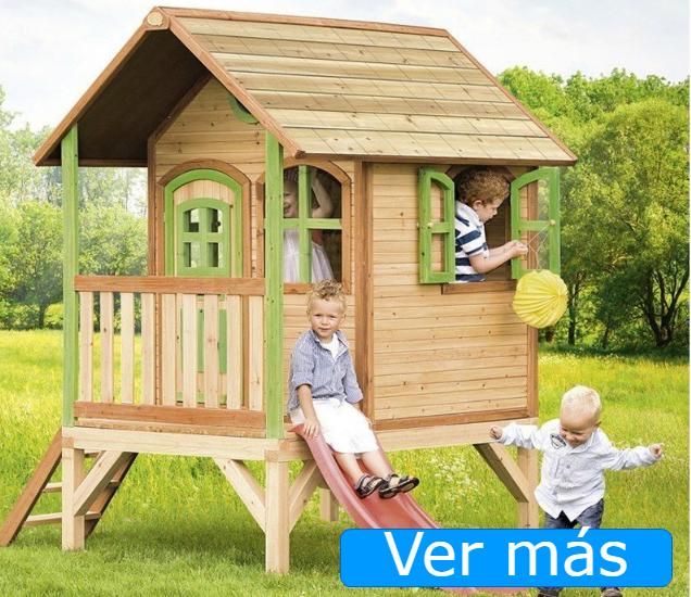 Casas de jardín para niños: casa de jardín con tobogán