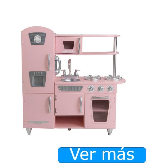 Cocinita de madera rosa Kidkraft