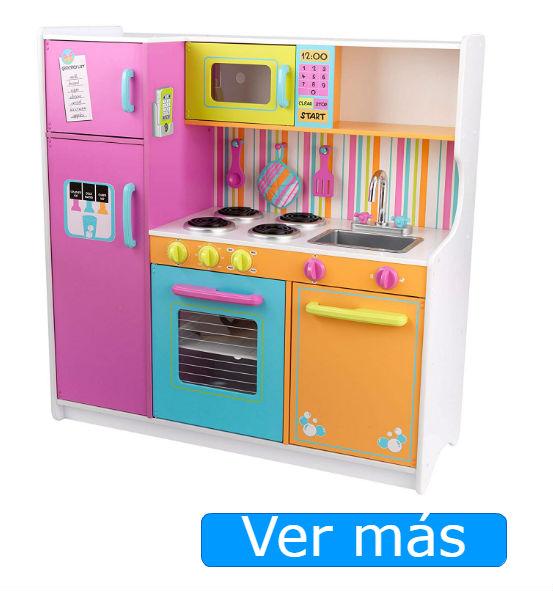 Cocinita de madera Kidkraft de colores