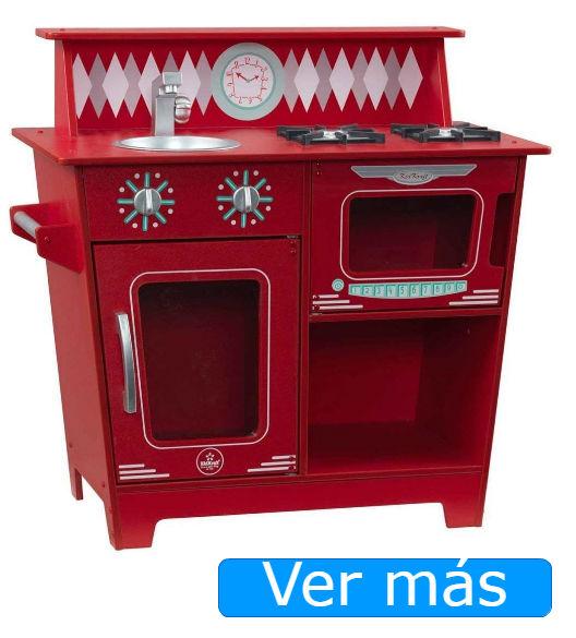 Cocinita de madera Kidkraft roja