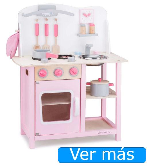 Cocinita de madera New Classic Toys rosa