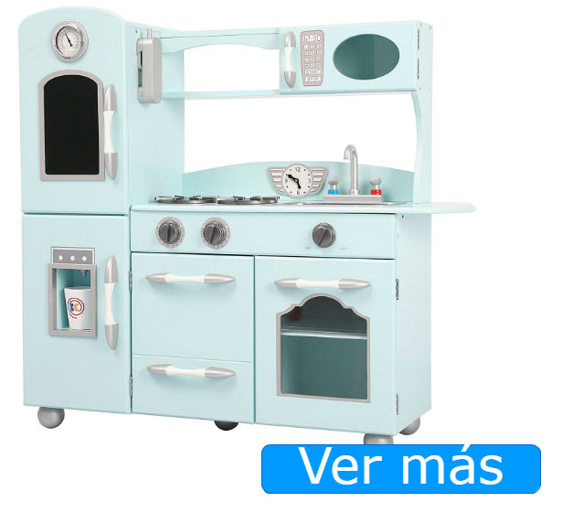 Cocinita de madera Teamson color menta