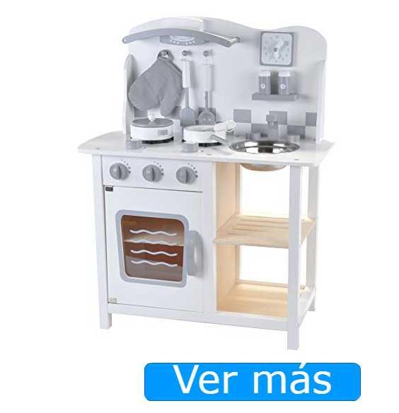 Cocinitas de madera: blanca y plata