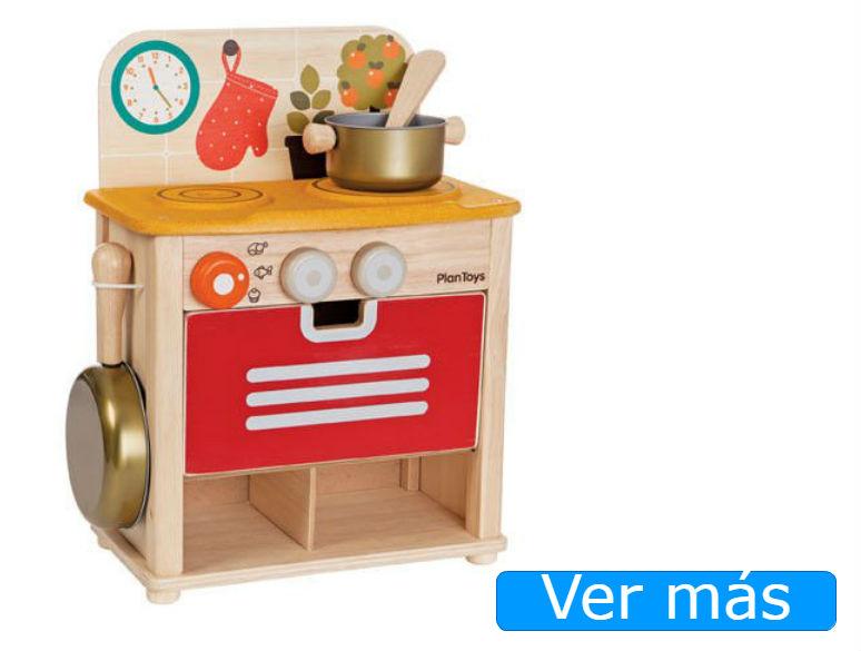 Cocinita de madera barata Plan Toys