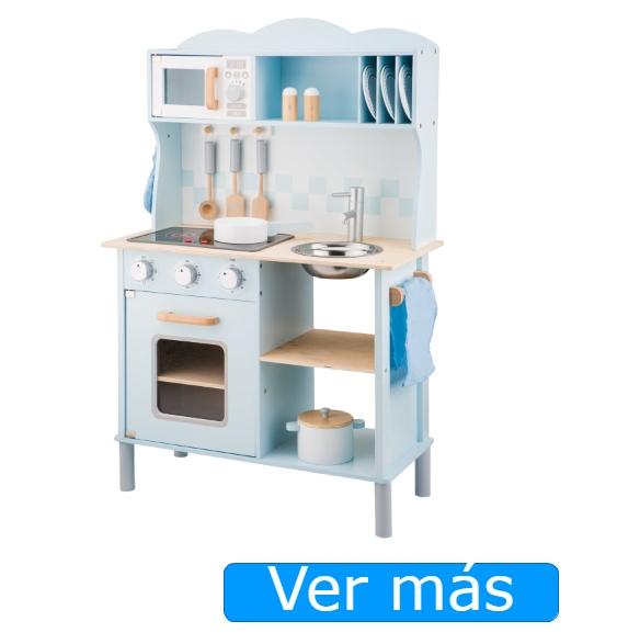Cocinita de madera de juguete New Classic Toys azul