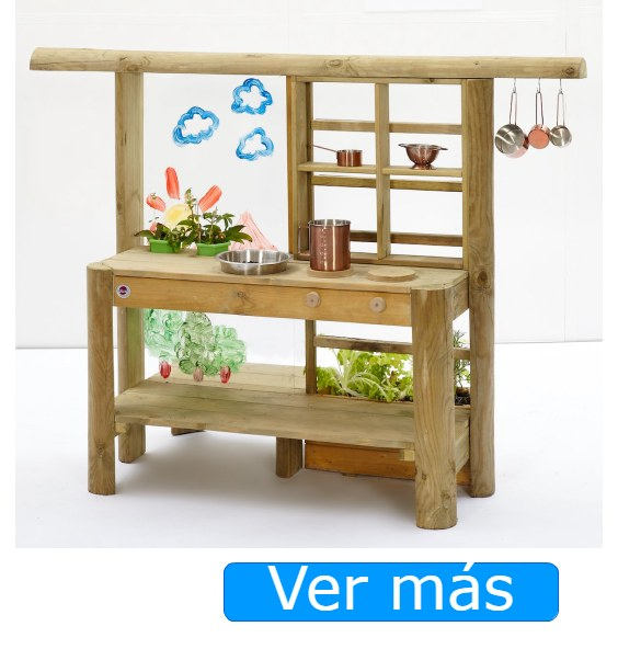 Cocinita de madera para exterior o jardín