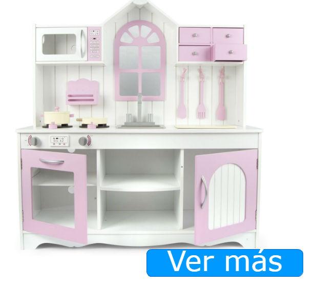 Cocinita de madera rosa Leomark