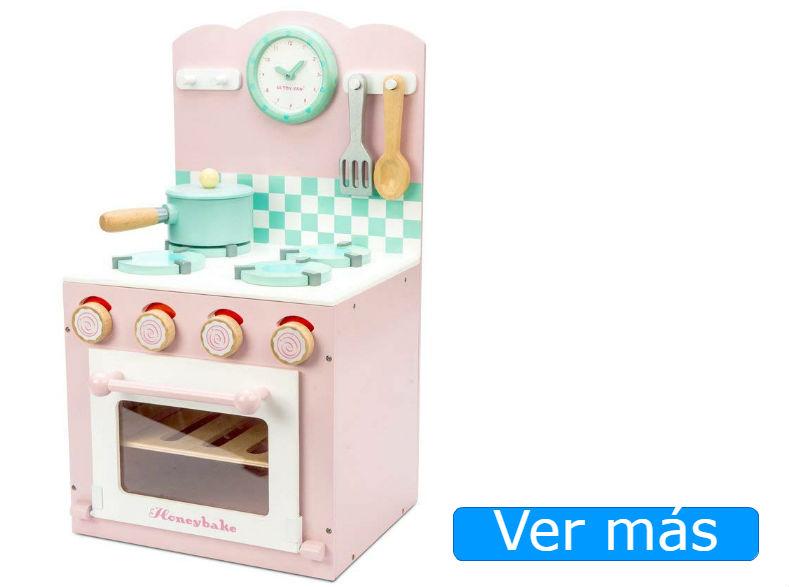 Cocinita de madera rosa de Le Toy Van