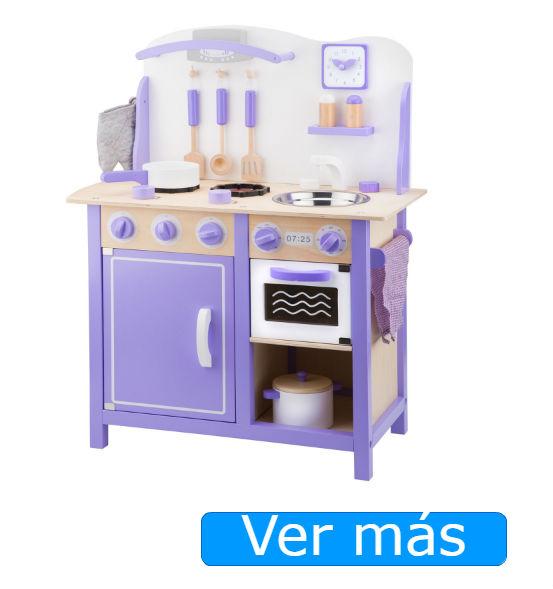 Cocinitas de madera New Classic Toys: modelo deluxe malva