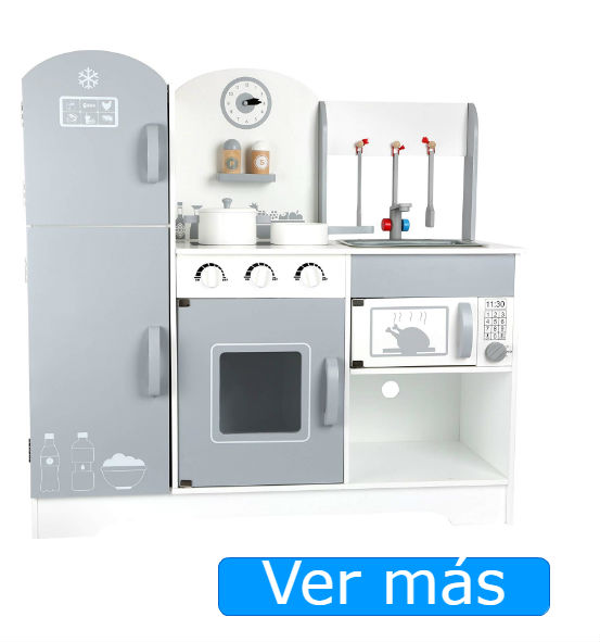 Cocinitas de madera Small Foot: cocinita moderna y con nevera
