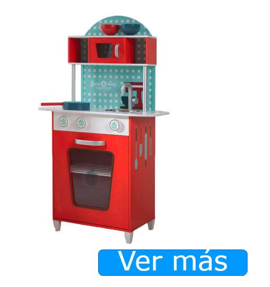 Cocinitas de madera baratas Beluga: cocina roja