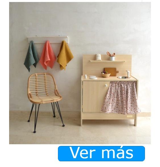 Cocinitas de madera hechas a mano Macarena Bilbao: Maple