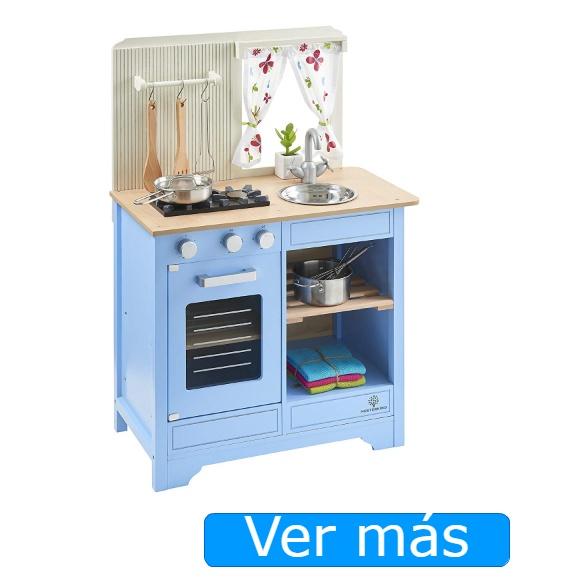 Cocinitas de madera para niños: Cocinita Musterkind azul