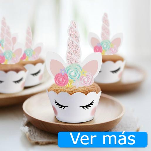 Cosas de unicornios: decoración para cupcakes