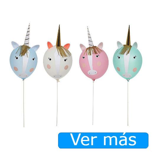 Cosas de unicornios: globos cabezas de unicornios