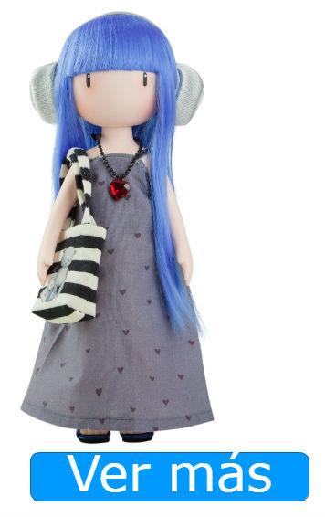 Muñecas Gorjuss: muñeca de pelo azul