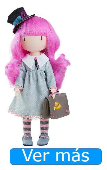 Muñecas Gorjuss: muñeca pelo rosa