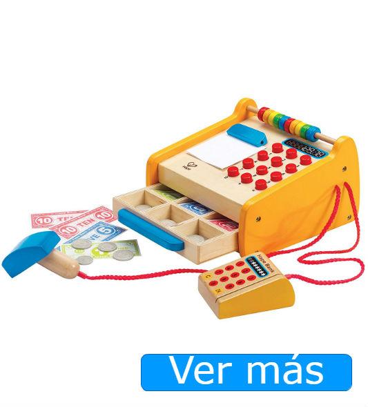Supermercado de juguete de madera: caja registradora de juguete Hape