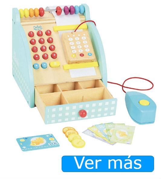 Juguetes de madera: caja registradora de juguete Vilac