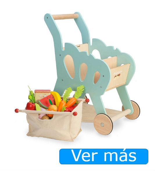 Juguetes de madera: carro de la compra