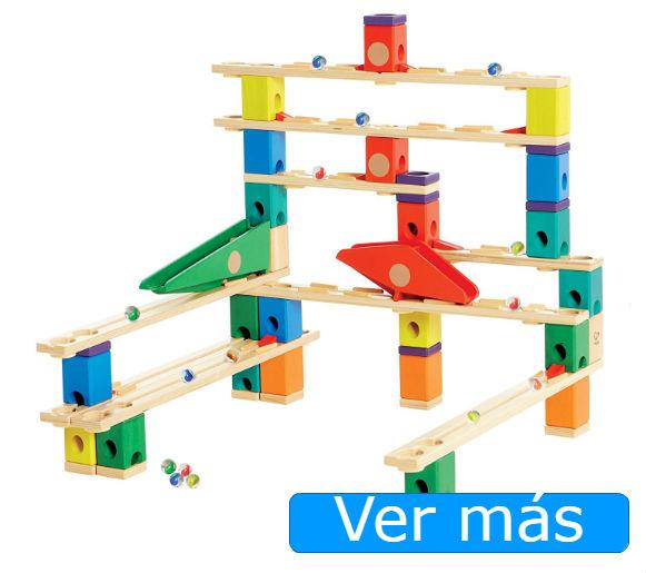 Juguetes de madera circuitos de canicas medio