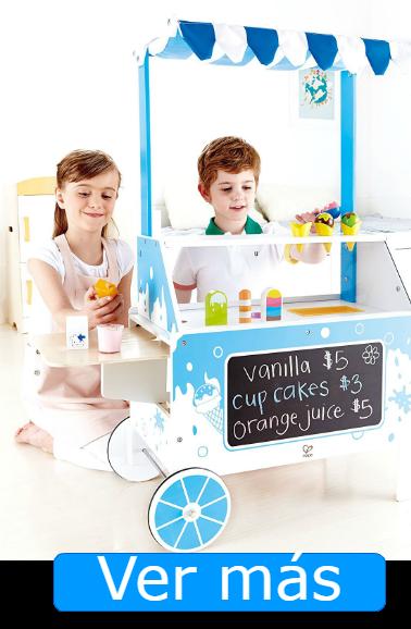 Juguetes de madera para jugar a las tiendas: heladeria Hape