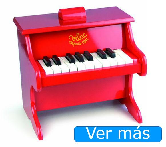 Juguetes de madera piano rojo Vilac