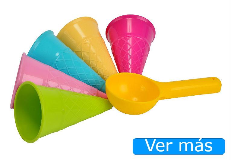 Juguetes de playa originales: conos de helado
