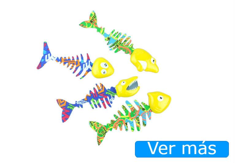Juguetes de playa originales: peces de colores