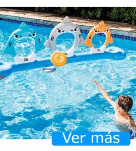 Juguetes para piscina: aros y discos
