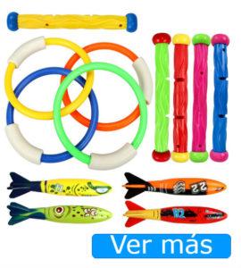Juguetes para piscina: juguetes de buceo